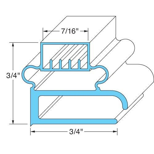 Delfield 1702146 Gasket Door 15-13/16'' X 27-1/4'' Screw Mnt For Delfield Refrigerator 4060 741168