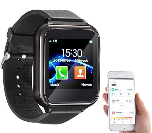 simvalley MOBILE Handyuhr: 2in1-Handy-Uhr & Smartwatch für Android, Touch-Display, Bluetooth, App (Smartwatch mit SIM…