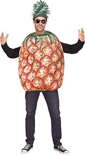 Fun World Men's Pineapple, Yellow, STD. Up to 6' / 200 lbs.