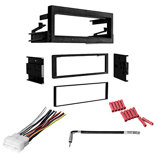 CACHÉ KIT13 Bundle with Complete Car Stereo Installation Kit Compatible with GMC Vehicles Listed Below - in Dash Mounting Kit, Harness, Antenna Adapter for Single Din Radio Receivers (4 Item) ()