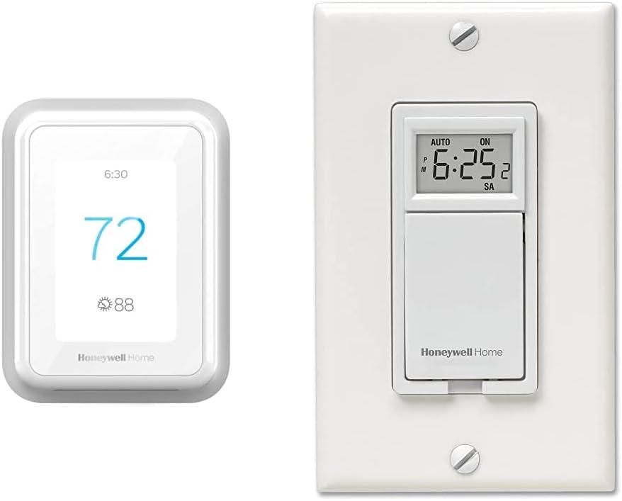RCHT9510WFW2001 WiFi Thermostat + RPLS730B Programmable Light Switch