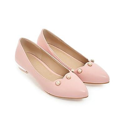 CXQ-Talons QIN&X Loisirs Femmes Chaussures Chaussures Bouche Peu Profonde Plat Rose,Rouge,35