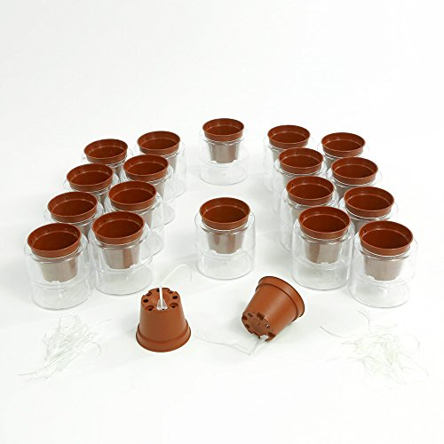 Miniature Self Watering Planter System - 18 Sets Miniature Planter
