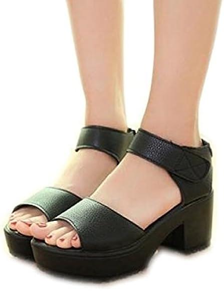 Lightweight Thick Heel Sandals Flat