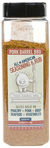 Pork Barrel BBQ All American Seasoning & Rub 19oz Chef Size Shaker (Pack of 3)