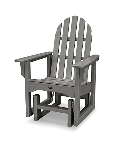 Trex Outdoor Furniture Cape Cod Adirondack Glider Chair in Stepping Stone
