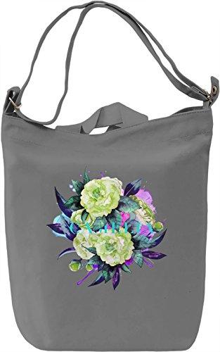Camelia Borsa Giornaliera Canvas Canvas Day Bag| 100% Premium Cotton Canvas| DTG Printing|