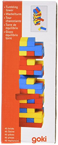 Goki – Torre de equilibrio de madera, 45 piezas (Gollnest & Kiesel KG G1005/973)