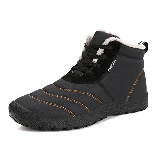 a0e210af0885 Voovix Men  Snow Boots Winter Warm Fur Lined Waterproof Non Slip  Lightweight Outdoor Shoes(
