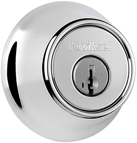 665 Series Double Cylinder - Kwikset 665-S Double Cylinder Deadbolt with SmartKey from the 660 Series, Polished Chrome