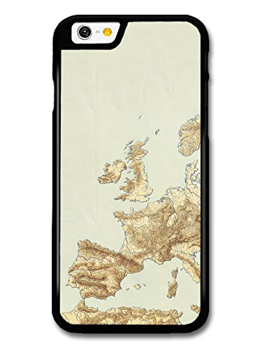 Classic Vintage Retro European Map with a Rustic Style case for iPhone 6 6S