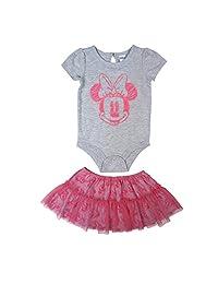 Disney Baby Girl's Minnie Tutu/Creeper Skirt Set, Grey, 18M