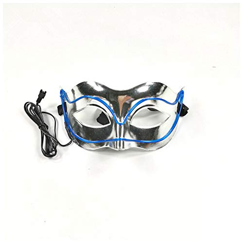Neon Nightlife Men's Light up Mask(7.093.153.15in/Power Switch Button-Dark Blue)