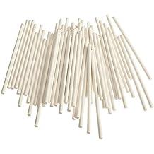 """Cake Pop Sticks, 6"""" Paper Sticks for Cake Pops, Lollipops, Candy Apples, 100/Pack, Bake Shop Supply"""