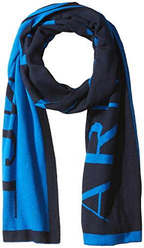 Armani Exchange Men's Knit Oversized Logo Scarf