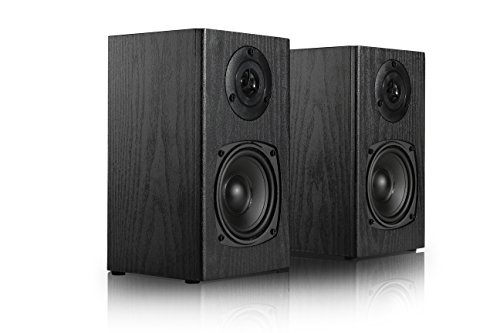 "SIMING BK245 4-1/2"" 2-Way Bookshelf Speaker (Pair Wooden Black)"