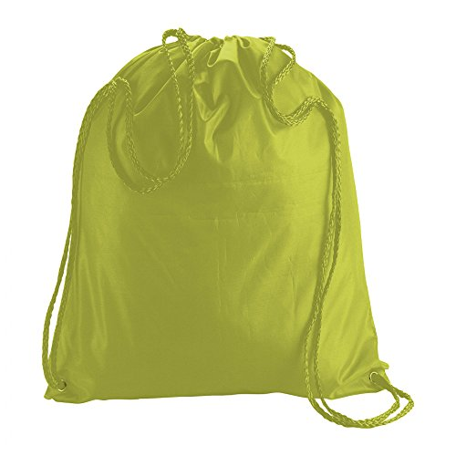 Ebuy eBuyGB Folding Kids Nylon Drawstring Backpack Bag for Home Gym Travel Storage Sports School (Lime Green) For Sale