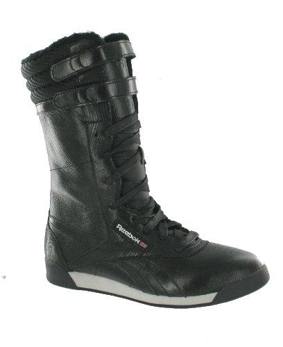 huge selection of ef07b a2c3b Reebok Freestyle Boot Damen Stiefel Damenstiefel Schwarz-Hellgrau-Silber