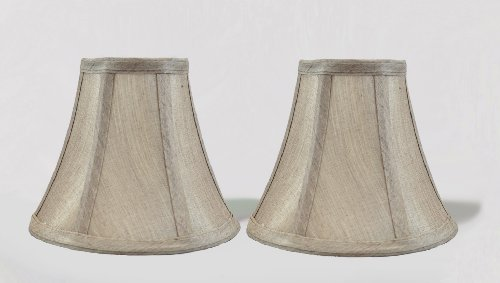 Urbanest 6-inch Chandelier Lamp Shade, Champagne Set of 2