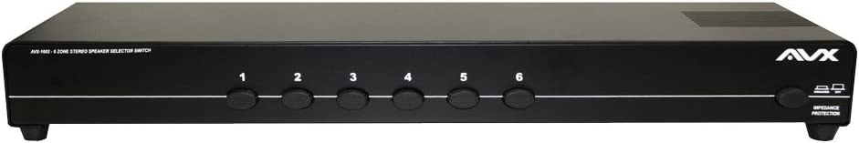 6 Zone Stereo Speaker Selector Switch With Impedance Protection by AVX Audio