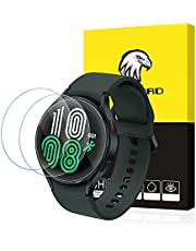 SPGUARD Galaxy Watch 4 44mm Screen Protector, 3 Pack Tempered Glass Screen Protector Compatible with Samsung Galaxy Watch4 44mm