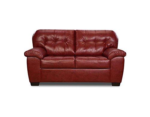 Simmons Upholstery 9515-02 Soho Espresso Bonded Leather Loveseat