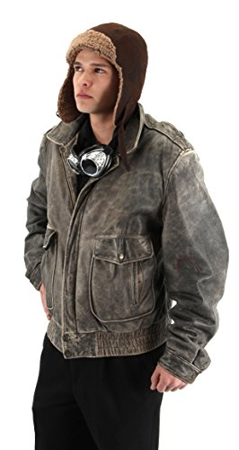 Costumes Lined Aviator Hat (Elope Lined Aviator Hat Costume)