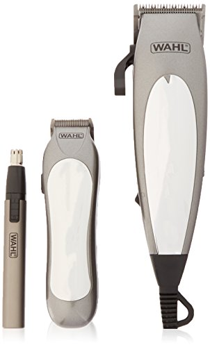 - Wahl 79305-3658 Deluxe Groom Pro 21 Piece Complete Hair Clipper Cutting Kit, 220 Volts