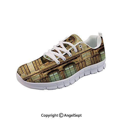 SfeatruAngel Athletic Running Shoes Architecture European City Building British Lightweight -