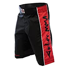 Amber Fight Gear MMA Fight Shorts S Black/Red, Small