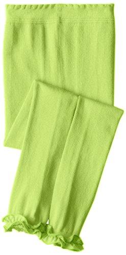 Jefferies Socks Little Girls'  Pima Cotton Ruffle Footless Tights, Lime, 4-6 -