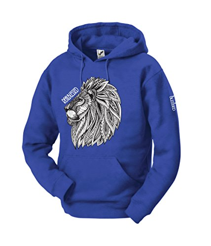 Real Blessed Men's Premium Quality Soft Pullover Fleece Graphic Hoodies (M, Born Leader (Graphic Fleece Hoody)