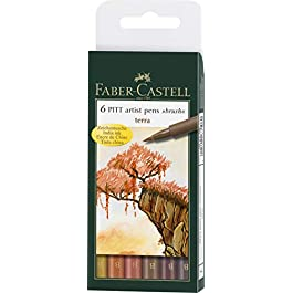Faber-Castell Pitt Artist B Pen Set – Pack of 6
