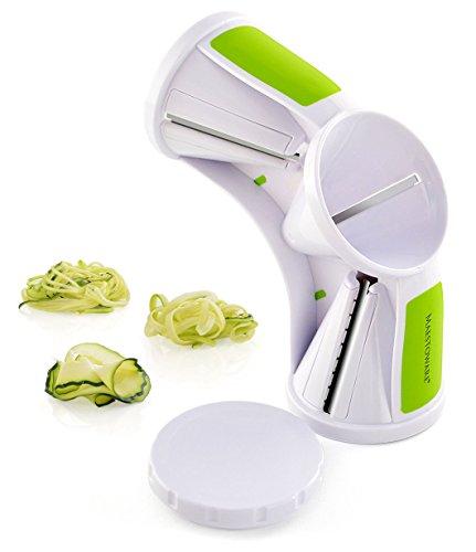 Maestoware Tri-Blade Spiral Slicer - Spiralizer Cutter Veggie Pasta Maker Cuts Zucchini...