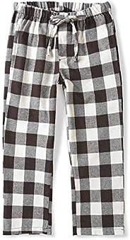 OCHENTA Boy's Cotton Woven Pajama Lounge Pant, Plaid Soft Sleep