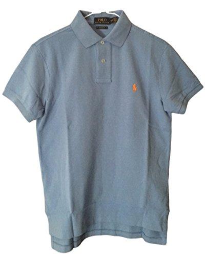 Polo Ralph Lauren Men Custom Fit Mesh Pony Logo Shirt  M  Hrisblue