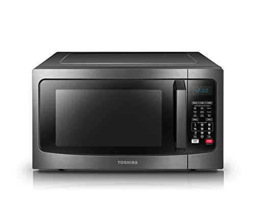 Toshiba with Convection Function Sensor 1.5 Cu.ft Black Stainless