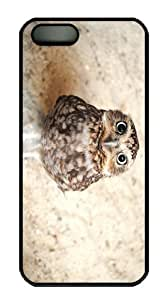 cases coolest owl baby PC Black Case for iphone 5/5S