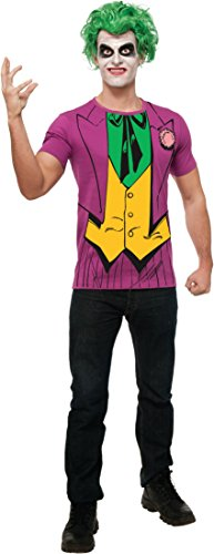 [Rubie's DC Comics Justice League Superhero Style Adult Printed Top The Joker, Purple, Medium] (Dc Comics Halloween)