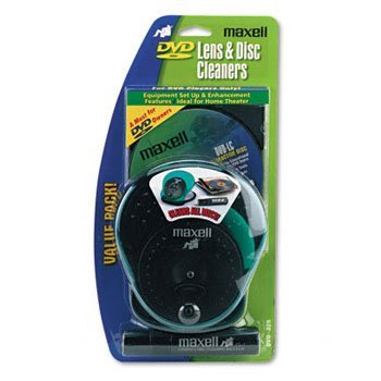 Maxell® DVD Lens & Disc Cleaner Value Pack CLEANER,DISC AND DVD LENS 0041B009 (Pack of6)
