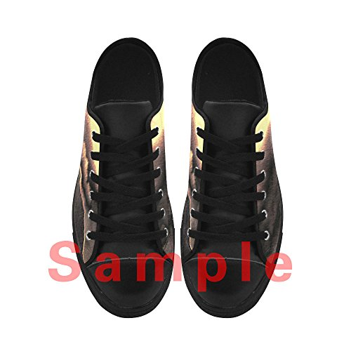 Sneakers Low Casual Donna Fractal Scarpe Gomma Leather Nera Aquila Top Action Up da Custom Lace CHEESE Design in wxBPq