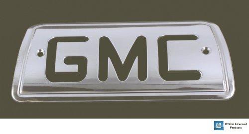 - All Sales 94007P Polished Billet Aluminum Third Brake Light Cover - GMC Logo