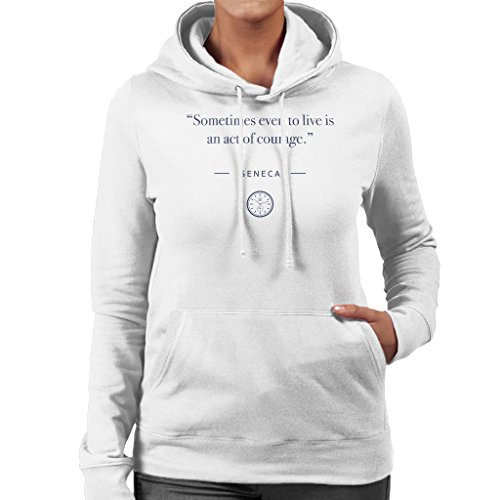 Seneca Women's Act Quote Hooded Courage Stoic Of White Sweatshirt Time 5BgCWH