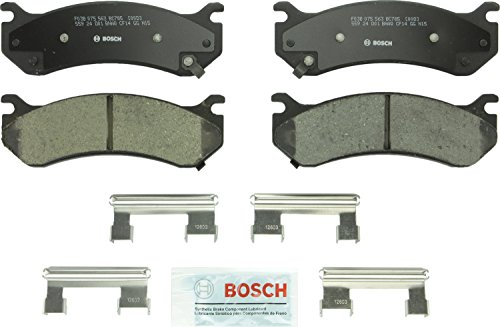 (Bosch BC785 QuietCast Premium Ceramic Disc Brake Pad For: Cadillac Escalade; Chevrolet Astro, Avalanche, Express, Silverado, Suburban; GMC Safari, Savanna, Sierra, Yukon XL; Hummer H2 Front & Rear )