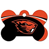 Personalized Laser Engraved 1.5 x 1 inch Oregon State Beavers Bone Shape Pet ID Tag- Free Tag Silencer