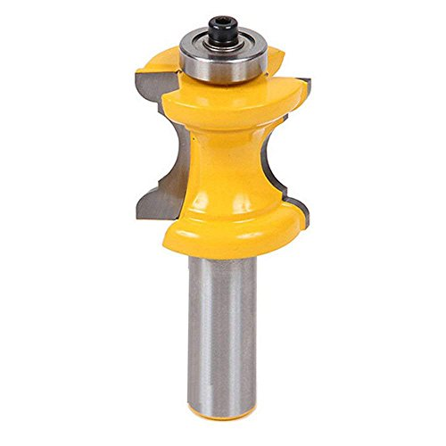 Migiwata Carbide Tipped Bullnose Cove Edge Router Bit with Ball Bearing Guide to Cut Half-round Profile for Shaping Stair Treads, Window Sills, Table and Counter Edges, Shelves and Making Moldings (Window Cove)