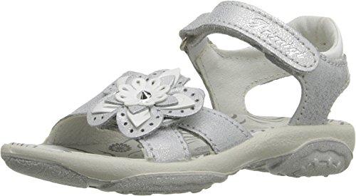(Primigi Kids Baby Girl's Dafne (Toddler/Little Kid) Silver Sandal)