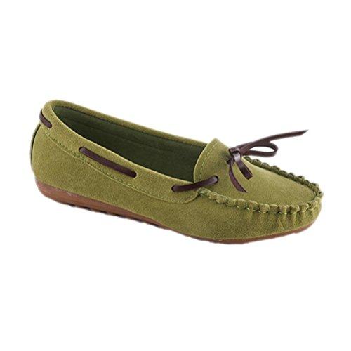 Amiley Kvinna Komfort Slip-on Tillfällig Fritids Mjuka Inomhus Utomhus Gymnastikskor Grön