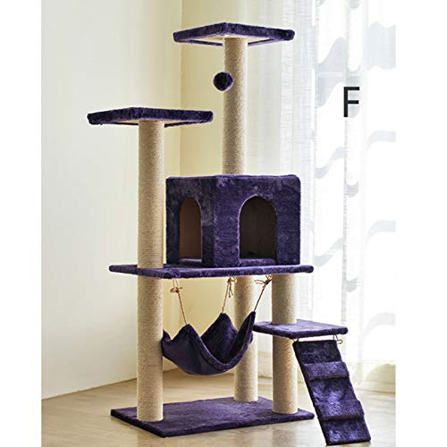 F LiRongPing Cat climbing frame, cat scratch board, cat toy, cat room pet supplies color selection (color   F)