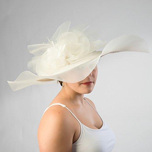 Kakyco Organza Ribbon Horse Hat - 026476 (Ivory)